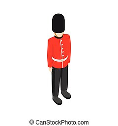 A Royal Guard icon, isometric 3d style - A Royal Guard icon...
