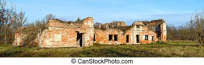 a, ruínas, de, bernardine, convento, em, brest, fortaleza, belarus