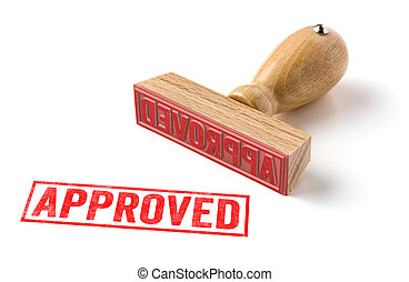 A rubber stamp on a white background - Approved