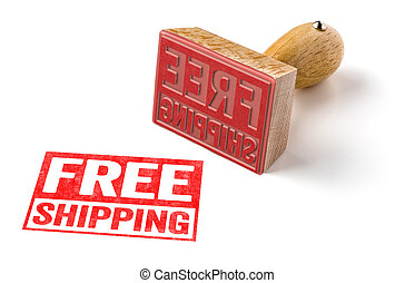 A rubber stamp on a white background - Free shipping