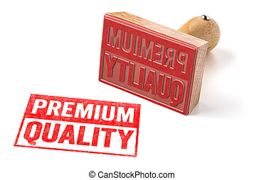 A rubber stamp on a white background - Premium Quality
