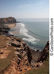 A rugged beach in Pembrokeshire