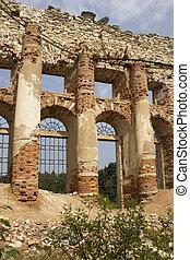 A ruined church