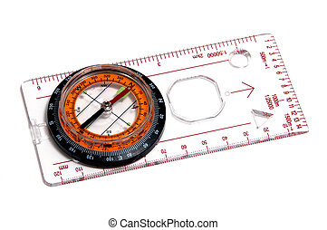 ruler with compass