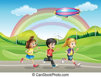 A running kids