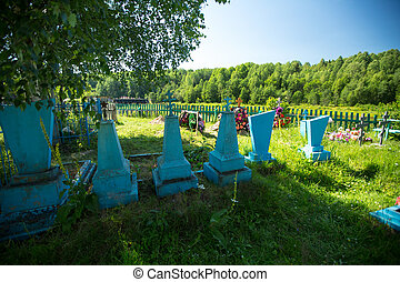 A rural cemetery in the North of Russia.