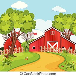 A rural house scene