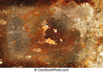 a rust on Zinc wall