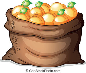 A sack of oranges