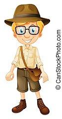 A Safari Boy Wearing Glasses
