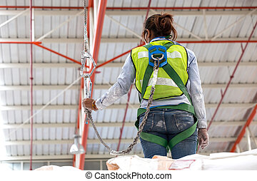 A safety harness is a form of protective equipment designed ...
