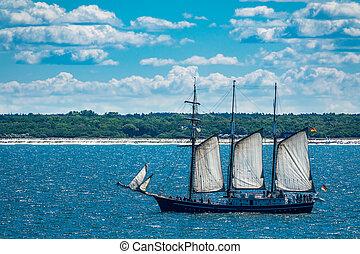 A sailing ship on the Baltic Sea