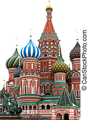 a saint basil cathedral in the Moscow
