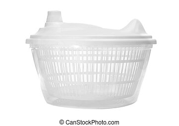 salad spinner - a salad spinner on a white background