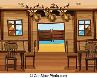 A saloon bar