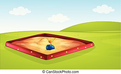 A sandpit in playground