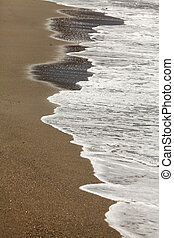 Waves on sand