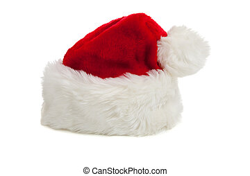 Santa Claus hat on a white background
