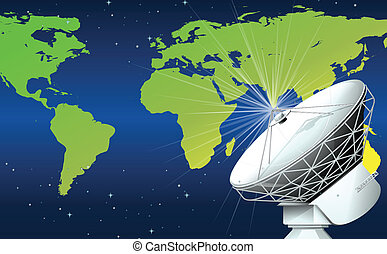 A satellite in the space