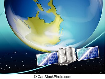 A satellite near the planet