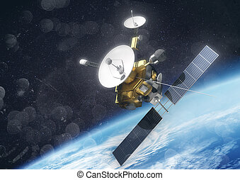 Satellite Surveying Earth Spacelab Or Spacecraft Design For Space