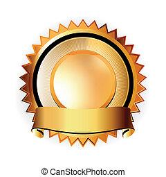 A Satisfaction Guaranteed seal. EPS 8