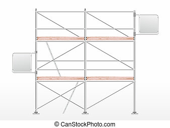 scaffolding - a scaffolding for construction with...