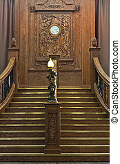 A scale replica of the famed Grand Staircase of the R.M.S. Titanic