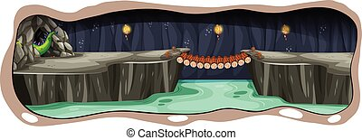 A Scary Dark Dragon Cave