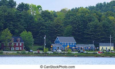 A Scene in Mahone Bay, Nova Scotia