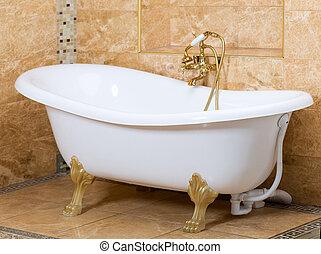 a, schöne , inneneinrichtung, von, a, badezimmer