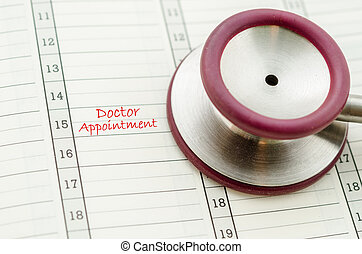 A scheduled doctors appointment