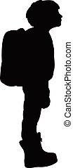 a school boy silhouette