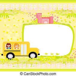 a school bus heading to school