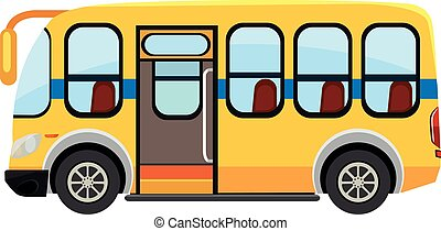 A school bus on white background