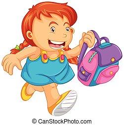 A school girl character illustration