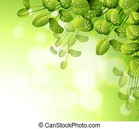 a, schreibwaren, mit, grün, betriebe