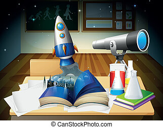 A science lab room - Illustration of a science lab room
