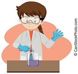A Scientist Exploring in Lab