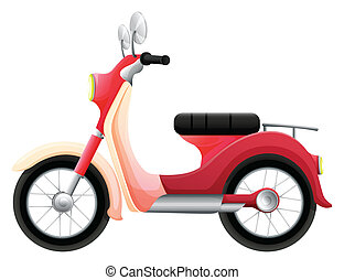 A scooter - Illustration of a scooter on a white background