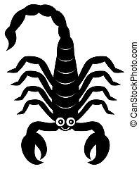 a scorpion shadow