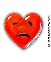 a screaming heart - One heart was hurting from a another...