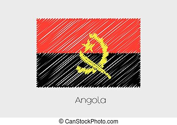 Scribbled Flag Illustration of the country of Angola