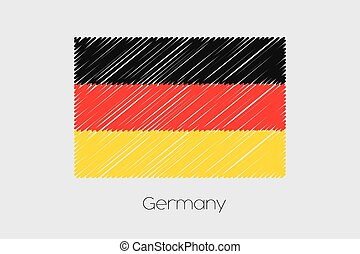 Scribbled Flag Illustration of the country of Germany