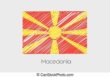 Scribbled Flag Illustration of the country of Macedonia