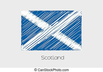 Scribbled Flag Illustration of the country of Scotland