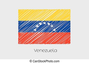 Scribbled Flag Illustration of the country of Venezuela
