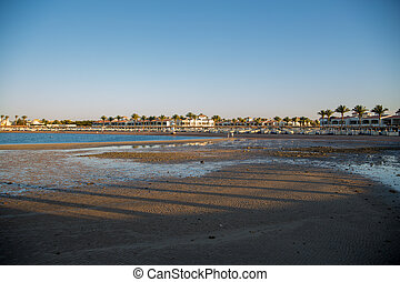 sea beach in the evening