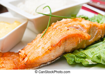 smoked salmon - A seafood salad with smoked salmon