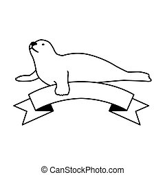 a seal fish on a white background